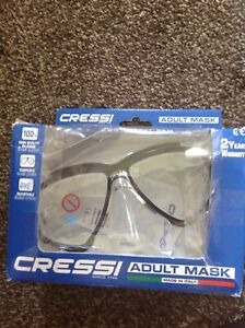 Cressi Mask Black/Clear Snorkelling Mask Swimming Adult Size