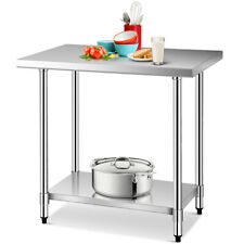 24' x 36' Stainless Steel Food Prep & Work Table Commercial Kitchen Worktable