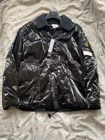 Supreme X Stone Island Silk Light Jacket Black Medium