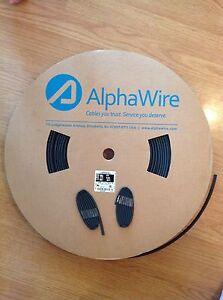 "Black Heat Shrink Tubing, 3/16"", 3 FT, QRP, Antenna, Tuner, Coax, AlphaWire"