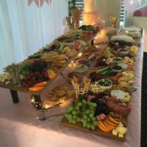 Ex Large Grazing Board / Serving Cheese Platter 2 Tier with Legs. Flat Pack