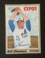 Bill Stoneman Montreal Expos signed 1970 Topps baseball card #398 Auto Autograph