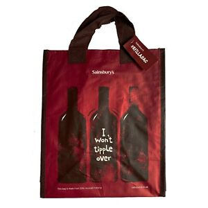 Sainsbury's|6 Bottles Wine Spirit Carrier Bag|New With Tags|Reusable|Free P&P