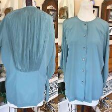 Vintage 80s John Galliano Silk Twisted long Sleeve Top US 4 EUR 36 UK 10 blouse