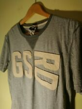 Vintage GStar G-Star Raw Grey Muscle Tshirt SZ L - XL Chest 110cm Like New