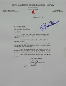Signed 1937 Letter re; Pro Contract for Bob Doerr from Boston Red Sox Joe Cronin