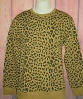 MENS FOREVER 21 LEOPARD CHEETAH ANIMAL PRINT CREW SWEATSHIRT SIZE S