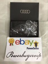 NEW Black Audi Keychain Metal Keyring, Key Chain, Keyfob, W/Gift Box 2 DAY GET