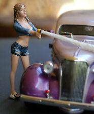 23943 American Diorama Car Wash Girl Jessica, 1:24