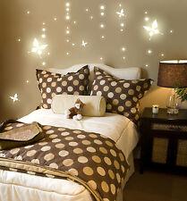 Leuchtpunkte Schmetterlinge Wandtattoo fluoreszierend Punkte Sternenhimmel M739