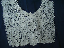 Vintage Lace Antique Layover Collar Brussels Duchesse or Honiton