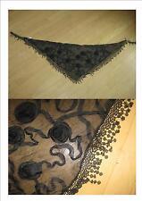 Traum Trachtentuch/ Dreieckstuch  in schwarz ca 130 cm Top