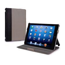 Tuff Luv Protege iPad Mini & Retina Case & Stand Grey Faux Leather Auto Sleep