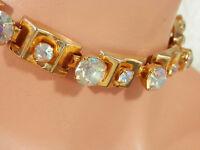 WOW-WOW Vintage 1950's 5 Carat Rhinestone Necklace-Super Showy  2213je