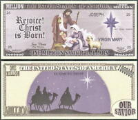 Lot of 25 BILLS - MARY, JOSEPH, BABY JESUS NATIVITY THREE WISEMEN MILLION DOLLAR