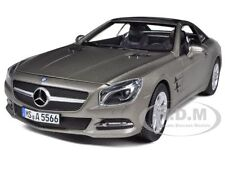 2012 MERCEDES SL CLASS SL 500 MATT GREY 1/18 DIECAST MODEL CAR BY NOREV 183590