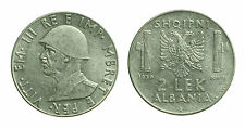 pcc1590_41)  Albania Vittorio Emanuele III - 2 Lek 1939 XVIII