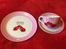 TEA PLATE  CUP & SAUCER SET PAPER ROSE