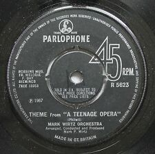 "Soundtrack A Teenage Opera 45 Mark Wirtz Orchestra - Theme From ""A Teenage Opera"