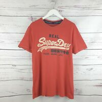 Superdry Mens Real Red Short Sleeve Tshirt Size Medium M