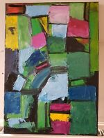Large Original Painting Abstract Block Modern Art Canvas Colourful Squares