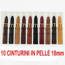 CONFEZIONE 10 CINURINI IN PELLE 18mm