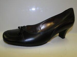 Gabor Fashion (51-261-27) Ladies Black Leather Court Shoes - UK 5