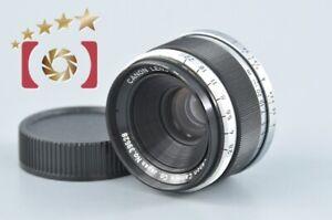 Very Good!! Canon 35mm f/2.8 L39 LTM Leica Thread Mount