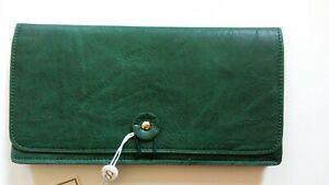 """NEW Shiraleah """"Lauren"""" Clutch Travel Wallet, Green"""
