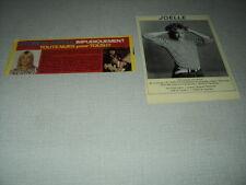 C130 IL ETAIT UNE FOIS JOELLE '1977 & 1984 FRENCH CLIPPING