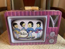 The Beatles Cartoon Tv Tin Tote Lunchbox Handle 2004