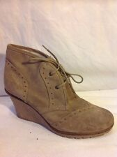 Miss Selfridge Brown Ankle Suede Boots Size 39