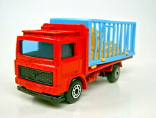 Matchbox Superfast Nr. 35C Volvo Zoo Truck rot blaues Gatter top