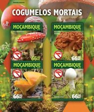 Mozambique 2016 MNH Poisonous Mushrooms Fly Agaric 4v M/S Fungi Nature Stamps