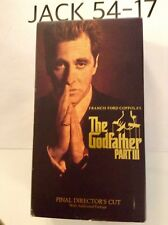 THE GODFATHER PART III VHS TAPE AL PACINO FINAL DIRECTOR'S CUT 2 TAPES