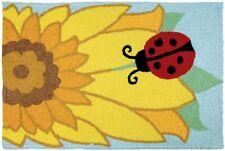 "Jellybean Indoor Outdoor Rug Ladybug on Sunflower 21"" x 33"""