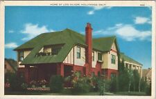 Vintage PNC postcard, The home of Lois Wilson, Hollywood, California