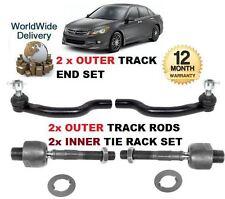 Para Honda Accord 2008 - & gt 2x externa & 2 Interior Izquierdo Y Derecho Pista tie Rack Rod End