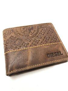 Mens Brown Diesel Leather Wallet Nw