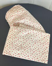 RALPH LAUREN COLCHESTER Full Flat & FitTed Sheet  Red Flowers  Cottage Sweet EUC