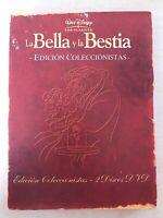 LA BELLA Y LA BESTIA EDICIÓN COLECCIONISTA 2 x DVD INGLÉS ESPAÑOL WALT DISNEY AM
