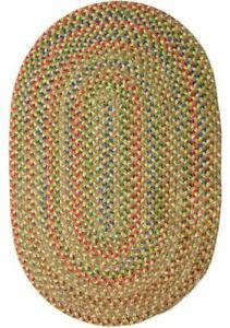 Katie Soft Textured Tweed Polypropylene Country Braided Rug Camel Multi KA53