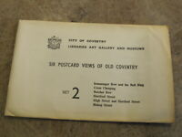 Set 2 - x6 1950-60s Reproduction postcards - Views of Old Coventry Warwickshire