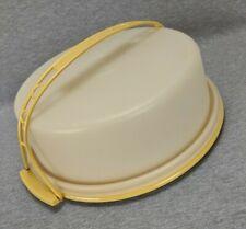 Tupperware Pie Carrier Harvest Gold Base Handle