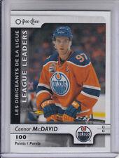 17/18 OPC Edmonton Oilers Connor McDavid League Leaders card #591
