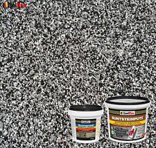 Buntsteinputz SET Mosaikputz BP30 (schwarz, grau, weiss) 5kg + Quarzgrund 1,5 kg