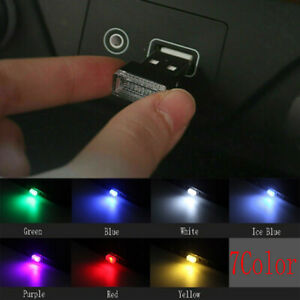 1* USB LED Car Interior Neon Light Atmosphere Ambient Bulb Lamp Accessories NEW
