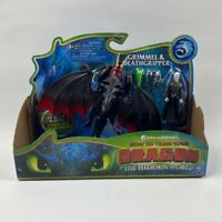 How to Train Your Dragon Grimmel and Deathgripper Toy Figure Hidden World NEW!