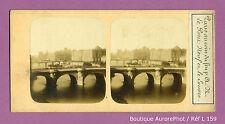 VUE STÉRÉO VIEW : PARIS 1855 , LE PONT NEUF & LE LOUVRE, PANORAMA -L159