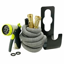 Garden Hose All New 2017 Expandable Hose Set With All Brass Connectors, Nozzle